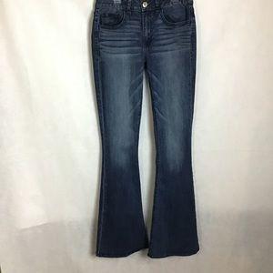 🦅American Eagle Hi-Rise Stretch Flare leg Jeans 6
